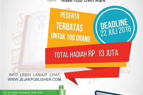 Lomba Cipta Novel Tingkat Nasional 2018  Jejak Publisher